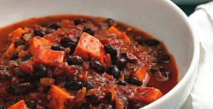 Scrumptious Butternut Squash (or Sweet Potato) and Black Bean Chili