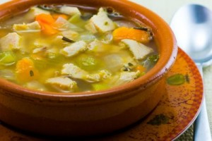 Leftover Turkey, Sweet Potato and Cannellini Bean Soup