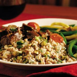 Farro with Pistachios and Herbs